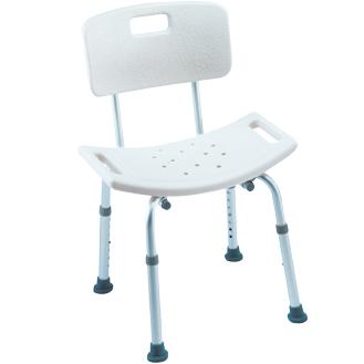 Sedia per doccia con schienale